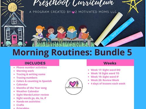 PreK-4 Morning Routines Bundle 5 Preschool Curriculum