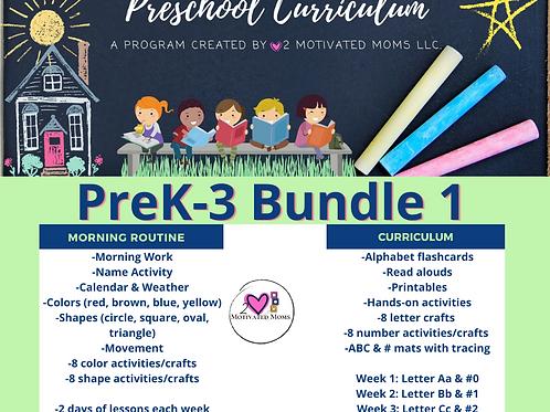 PreK-3 Bundle 1 Preschool Curriculum