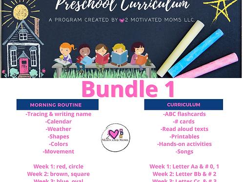 PreK-4 Bundle 1 Preschool Curriculum