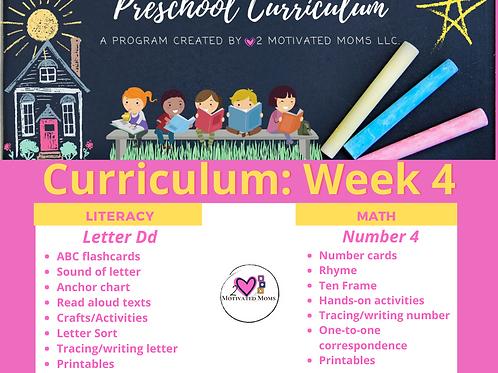 PreK-4 Week 4 Preschool Curriculum