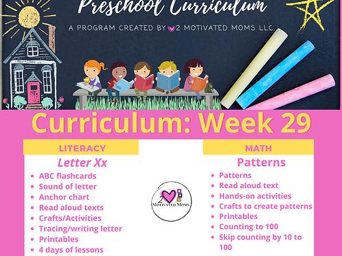 PreK-4 Week 29 Preschool Curriculum