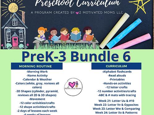 PreK-3 Bundle 6 Preschool Curriculum