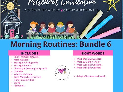 PreK-4 Morning Routines Bundle 6 Preschool Curriculum