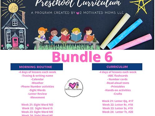 PreK-4 Bundle 6 Preschool Curriculum