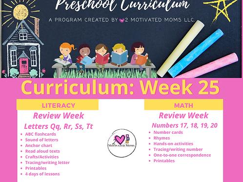 PreK-4 Week 25 Preschool Curriculum
