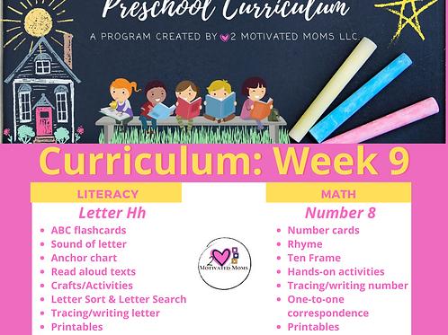 PreK-4 Week 9 Preschool Curriculum