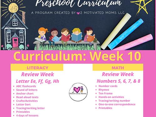 PreK-4 Week 10 Preschool Curriculum