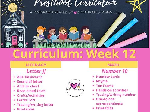 PreK-4 Week 12 Preschool Curriculum
