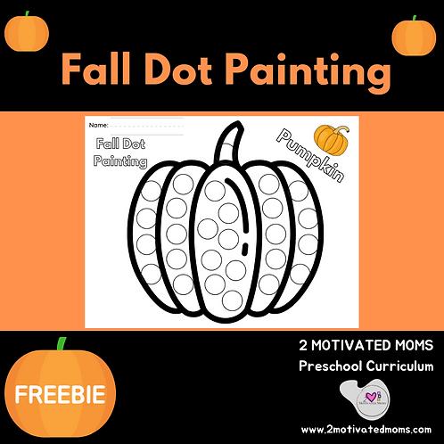 Pumpkin Fall Dot Painting