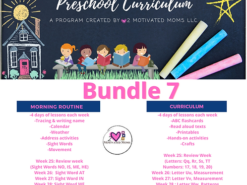 PreK-4 Bundle 7 Preschool Curriculum