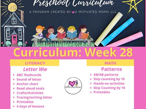 PreK-4 Week 28 Preschool Curriculum