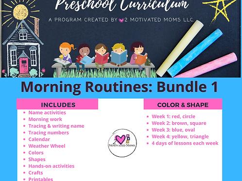 PreK-4 Morning Routines Bundle 1 Preschool Curriculum