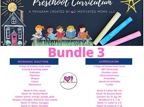 PreK-4 Bundle 3 Preschool Curriculum
