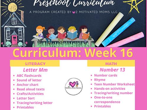 PreK-4 Week 16 Preschool Curriculum