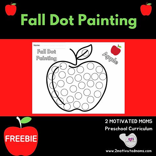 Apple Fall Dot Painting