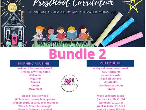 PreK-4 Bundle 2 Preschool Curriculum