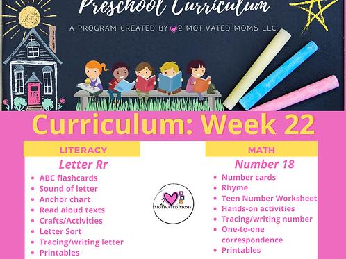 PreK-4 Week 22 Preschool Curriculum