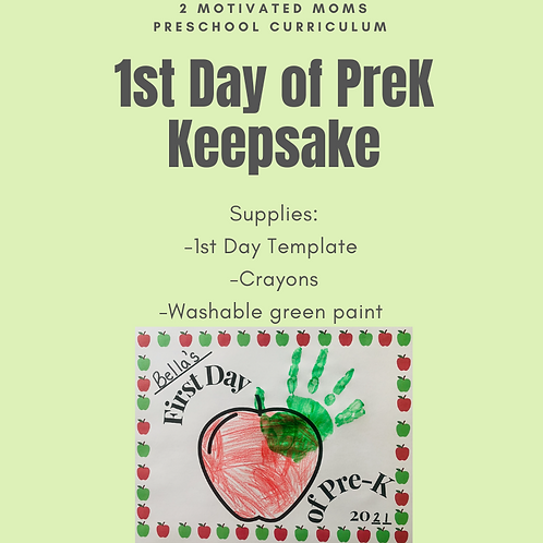 1st Day of PreK FREEBIE