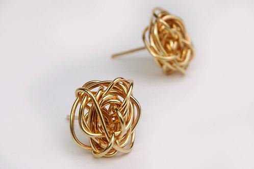 Gold Strings Earrings