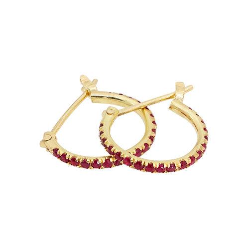 Rubys stone earings