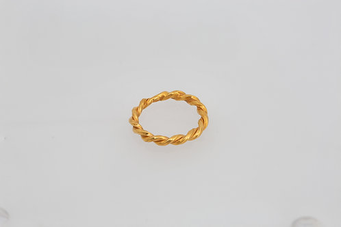 Small Braid Wedding Ring