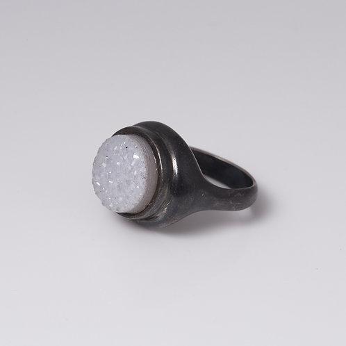 Silver & Druze Stone (ll)