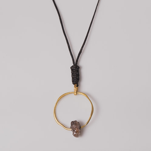 Gold Ring & Raw Diamond