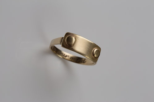 Gold Nitts Ring