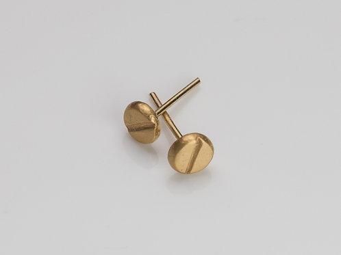 Gold Screws Earrings