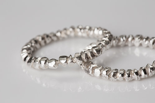 White Gold Lump Rings