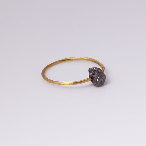 Hoop Ring & Raw Diamond