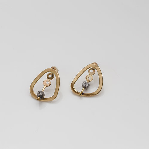 Raw Diamond Earrings