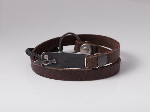 Leather & Silver Bracelet