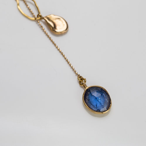 Gold & Tanzanite Necklace