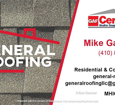 General-Roofing-business-card done by Ben Gardner