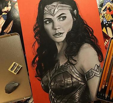 Wonder Woman Portrait done by Hunter Allain