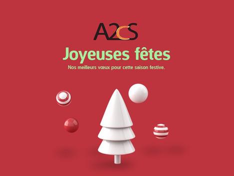 Toute l'équipe A2CS Vous souhaite de Joyeuses fêtes