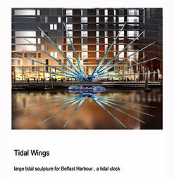 Tidal Wings is a sculpture that combines cutting edge design and technology with an ancient knowledge of the Earth's natural rhythms. It is a beacon for a sustainable future; reconnecting people with natural rhythm of the Sea and the Moon.