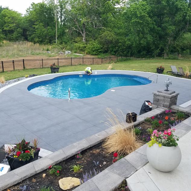 Textured Pool Deck