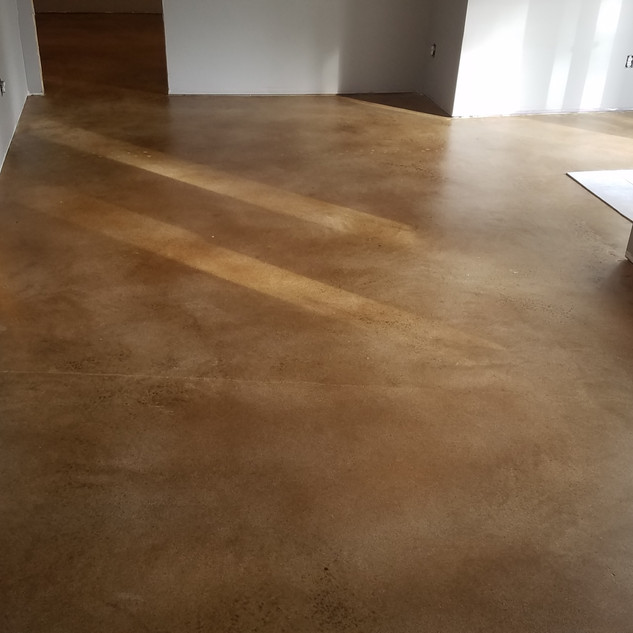 Acid Stained Dyed Concrete