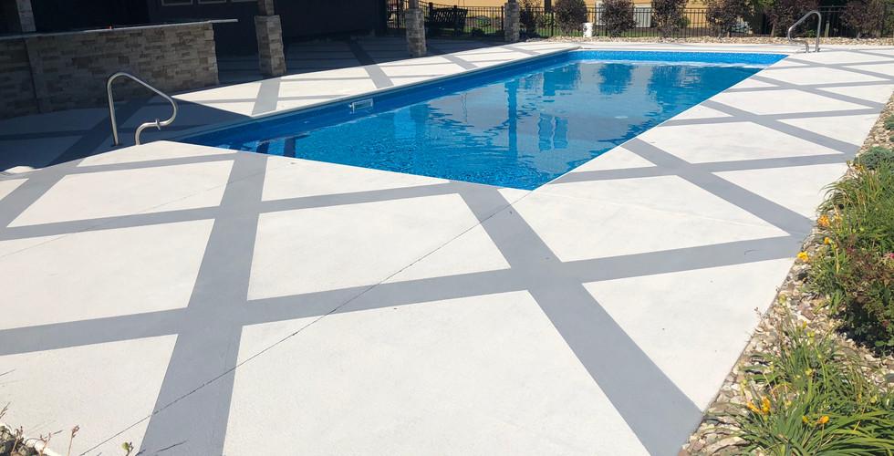 Pool deck overlays