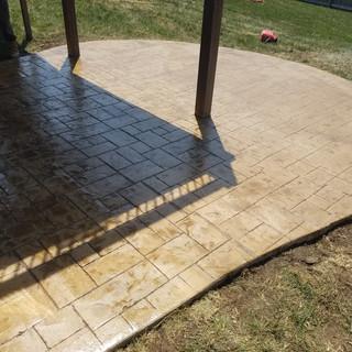 Ashlar Slate Stamped Concrete