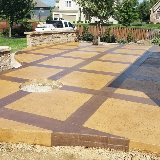 Slate Stamped Concrete