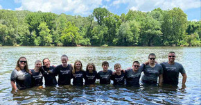 Youth Group in the James River