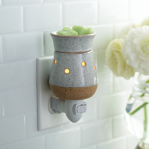 Rustic White Clay Pluggable Warmer