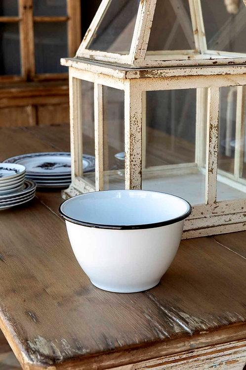 Farmhouse Enamelware Popcorn Bowl