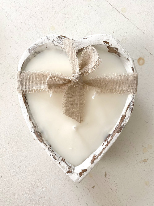 Dough Bowl Heart Candle