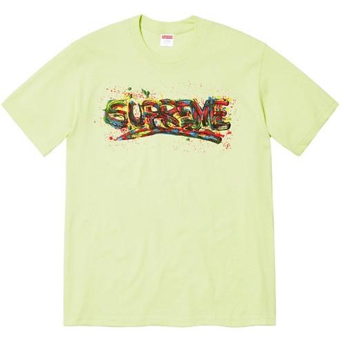 Supreme paint Logo tee