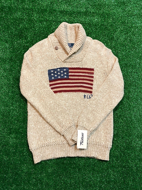 Vintage Polo Knit Flag Sweater