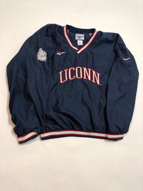 Vintage UConn Reebok PullOver Jacket